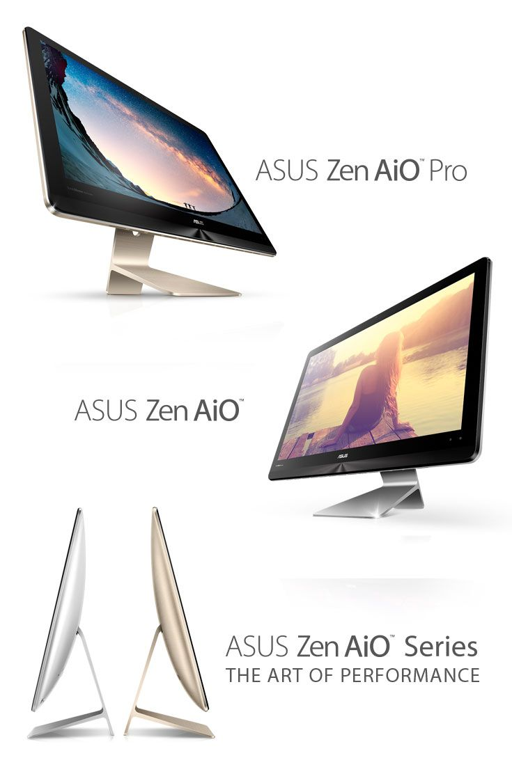 Introducing the Zen AiO Series! Comes in gray or icicle gold as the perfect accent to your style!   Zen AiO Series   Computex 2016   ASUS