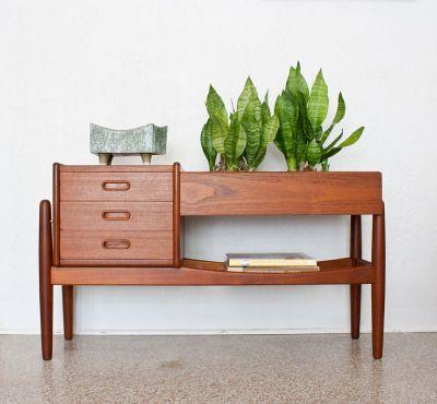 Vintage Danish modern teak Arne Wahl Iversen planter