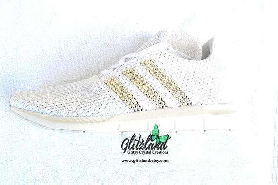 775b041db Swarovski ADIDAS Swift Run Casual Shoes Blinged with SWAROVSKI® Crystals   CustomAdidasShoes  GoldShoes  SwarovskiKicks  AdidasSwiftRun  AdidasKicks  ...