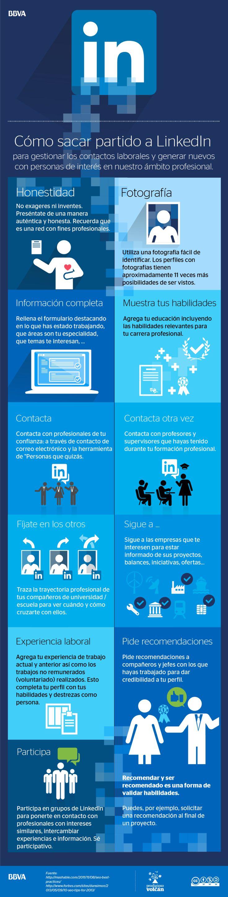 Cómo sacar partido a Linkedin #infografia #infographic #socialmedia