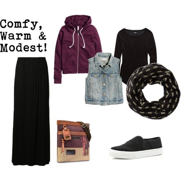 """Comfy, Warm & Modest"" by hem-of-his-garment-ministries on Polyvore 