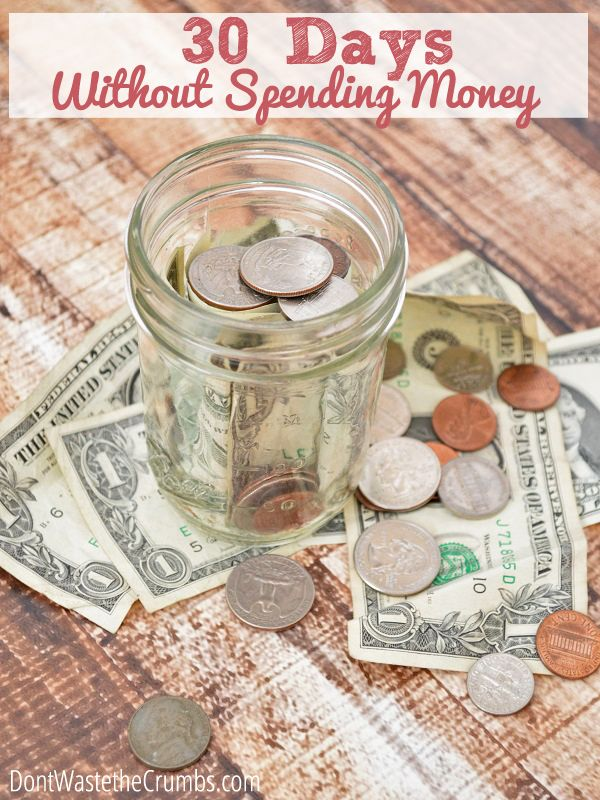 30 Days Without Spending Money   An impromptu challenge for one family to spend nothing for 30 days... come see the challenge and their progress! :: DontWastetheCrumb... #budgeting #frugal