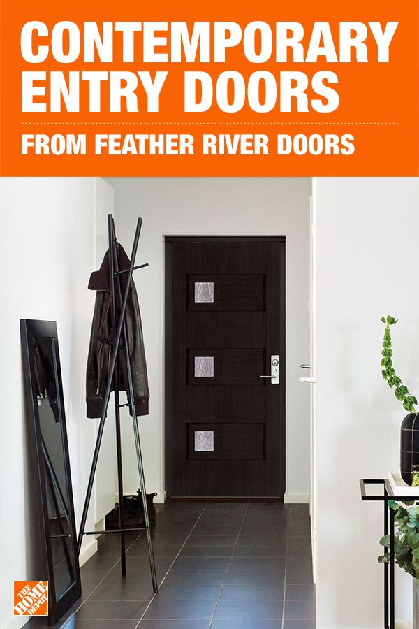 Make a bold first impression by choosing a modern exterior door for your home. Feather River Doors feature the durability and energy efficiency of fiberglass while also delivering on style. Click to shop these contemporary doors from the Modern Collection, exclusively at The Home Depot.