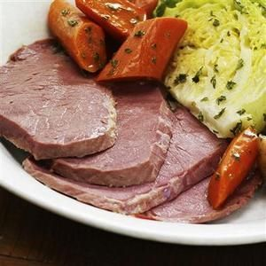 A Crockpot Recipe for Corned Beef and Cabbage!  I wonder if it taste as good as my Dad's?