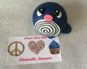 Snorlax de fondant Cake Topper/decoración por PeacelovecakeTN