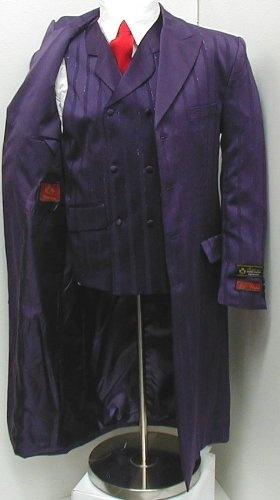 New Men's Purple Three Piece Super 150s Zoot Dress Suit – Very High Quality Joker Costume (from Batman: the Dark Knight) Best Reviews