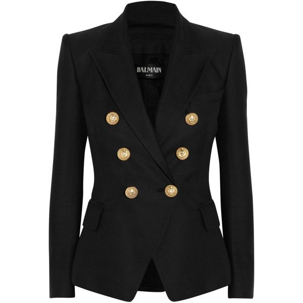 Balmain Cotton and silk-blend blazer found on Polyvore