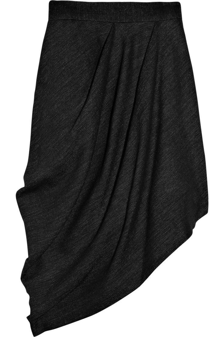 VIVIENNE WESTWOOD ANGLOMANIA  Mini Gallop asymmetric tweed skirt