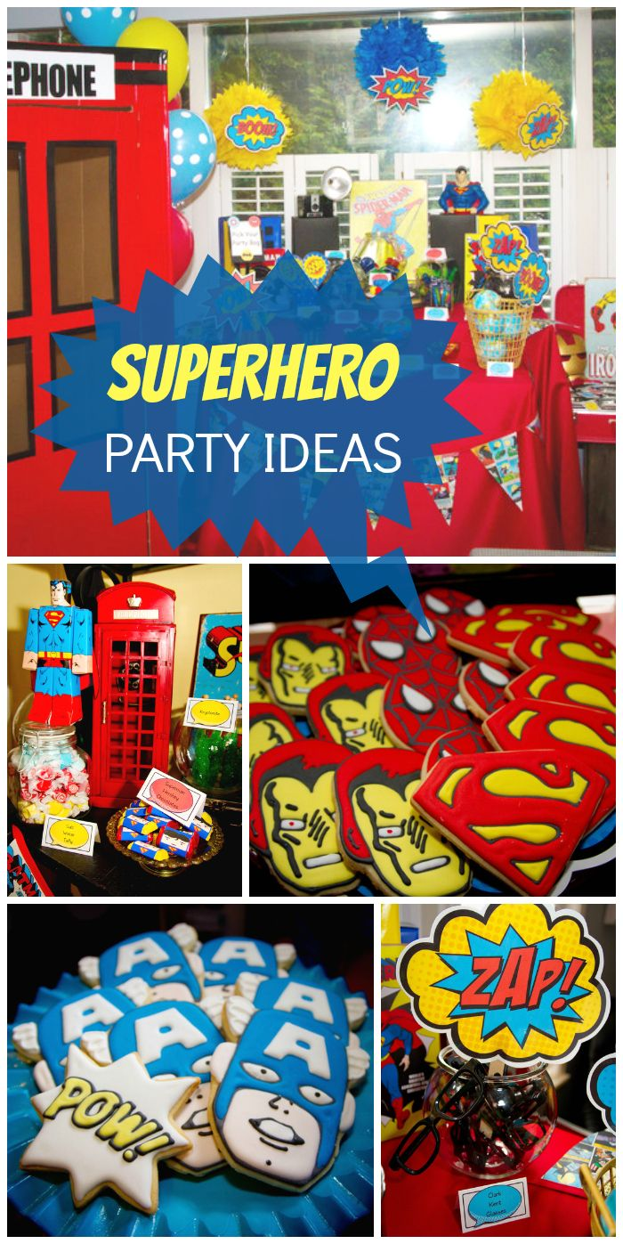 So many awesome details at this Superhero boy birthday party! See more party ideas at CatchMyParty.com!