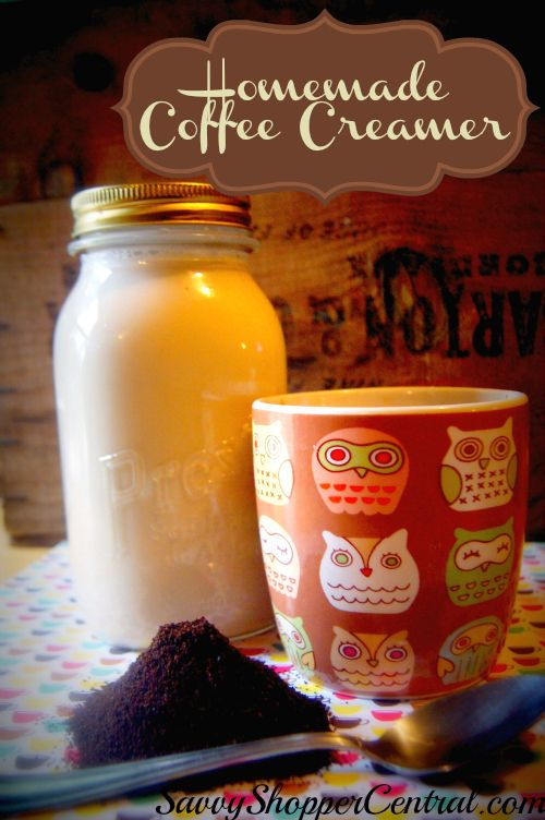 Homemade Coffee Cream Base~ Just think - almond joy at my fingertips - yes!  http://www.savvyshoppercentral.com/homemade-coffee-creamer/