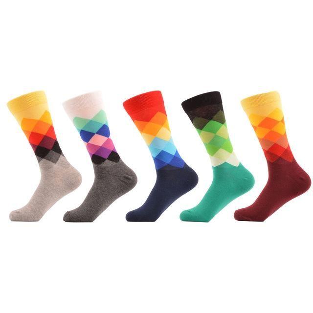 Barevné pánské ponožky - sada 5 párů