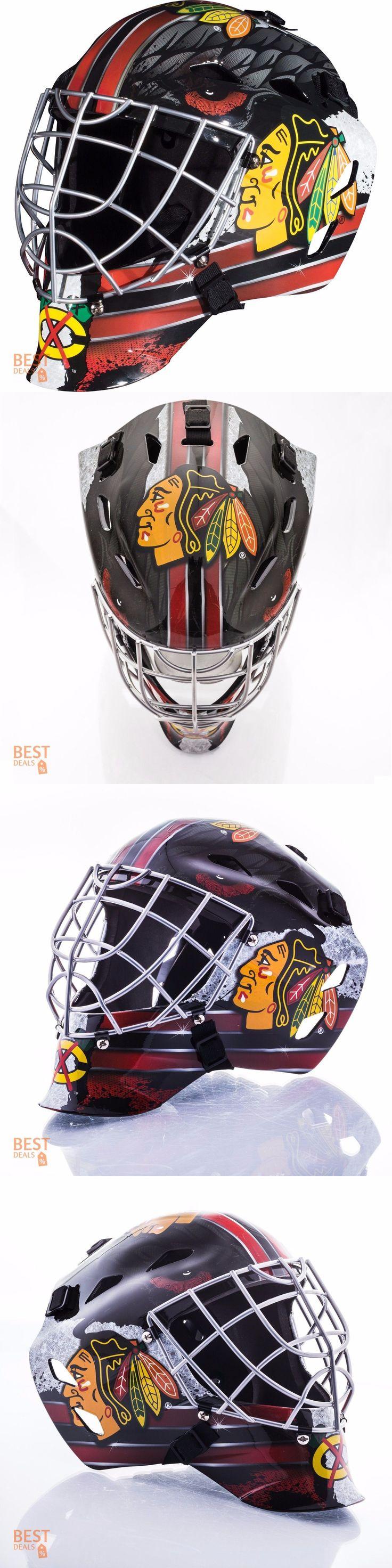 Face Masks 79762: Hockey Goalie Mask Youth Junior Nhl Chicago Blackhawks Franklin Sports Kids Gear -> BUY IT NOW ONLY: $74.99 on eBay!