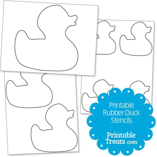 Printable Rubber Duck Stencils from PrintableTreats.com