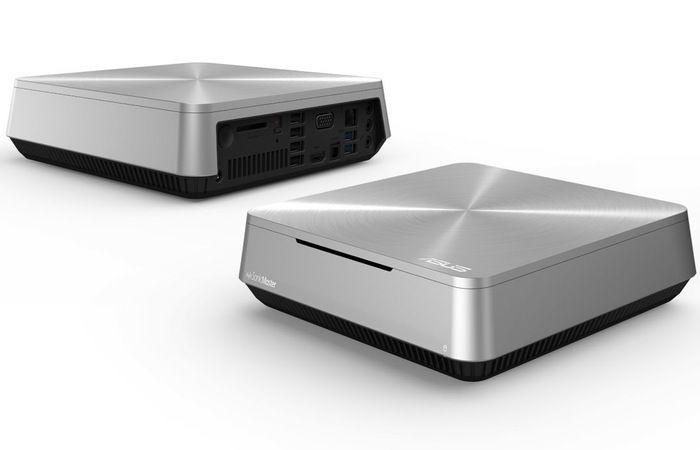 Asus VivoPC mini desktop has a 1x Gigabit Ethernet, SD card slot, optical S/PDIF output, VGA and HDMI ports, and 2 x USB 3.0 ports and 4 x USB 2.0 ports with a 500GB, 7200RPM hard drive