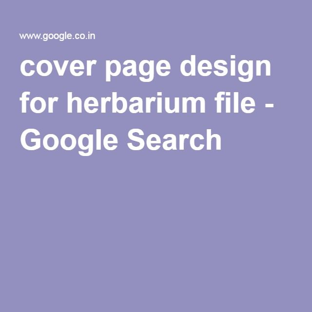 file cover page design