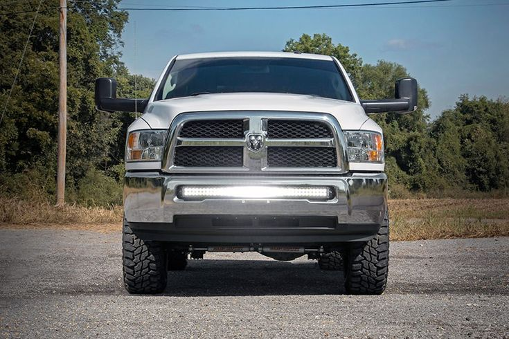 40in Dual / Single Row Curved LED Light Bar Hidden Bumper Mounting Brackets for 10-15 Dodge Ram 2500 / 3500 Pickup [70569] | Rough Country Suspension Systems®