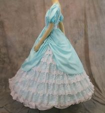Civil War Ball Gown, Southern Belle Dress (13A1) Love the ruffled lace on the skirt!!
