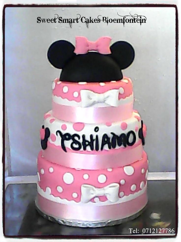 Pink Minnie Mouse Birthday cake. For more info & orders, email SweetArtBfn@gmail.com or call 0712127786