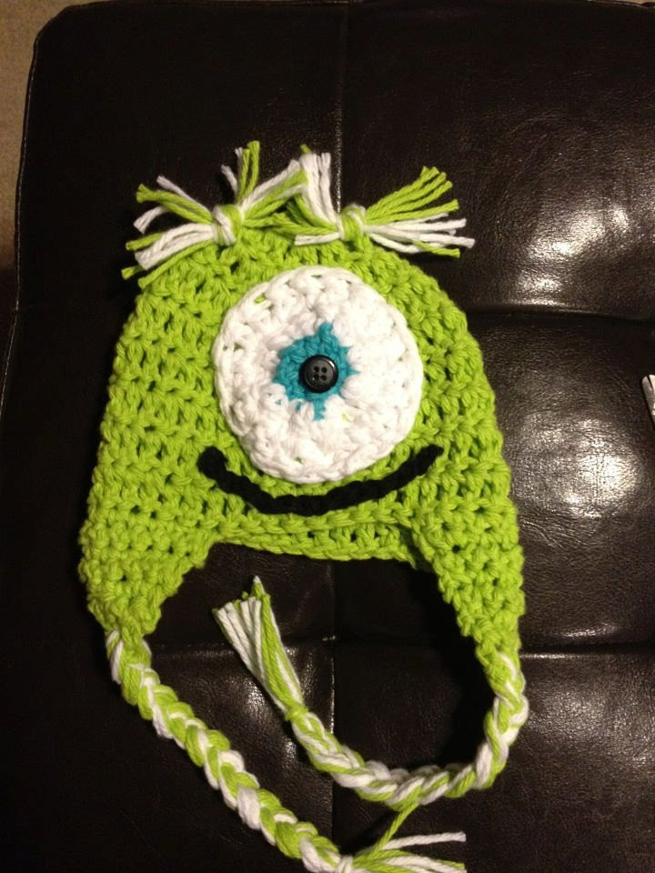 Mike Wazowski Crochet Baby Hat Pattern : 17 best images about {YARN} Disney & Characters on ...