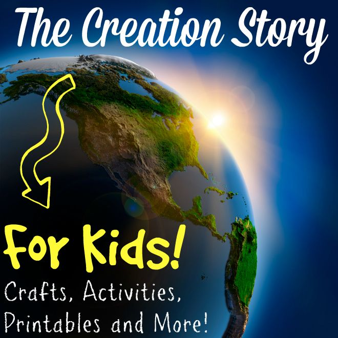 The creation story for kids - Activities, crafts, free printables, and more to help children create their own creation story books!