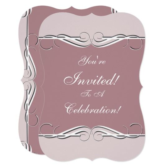 Any Color Invitation Card You Can Customize for Any Occassion