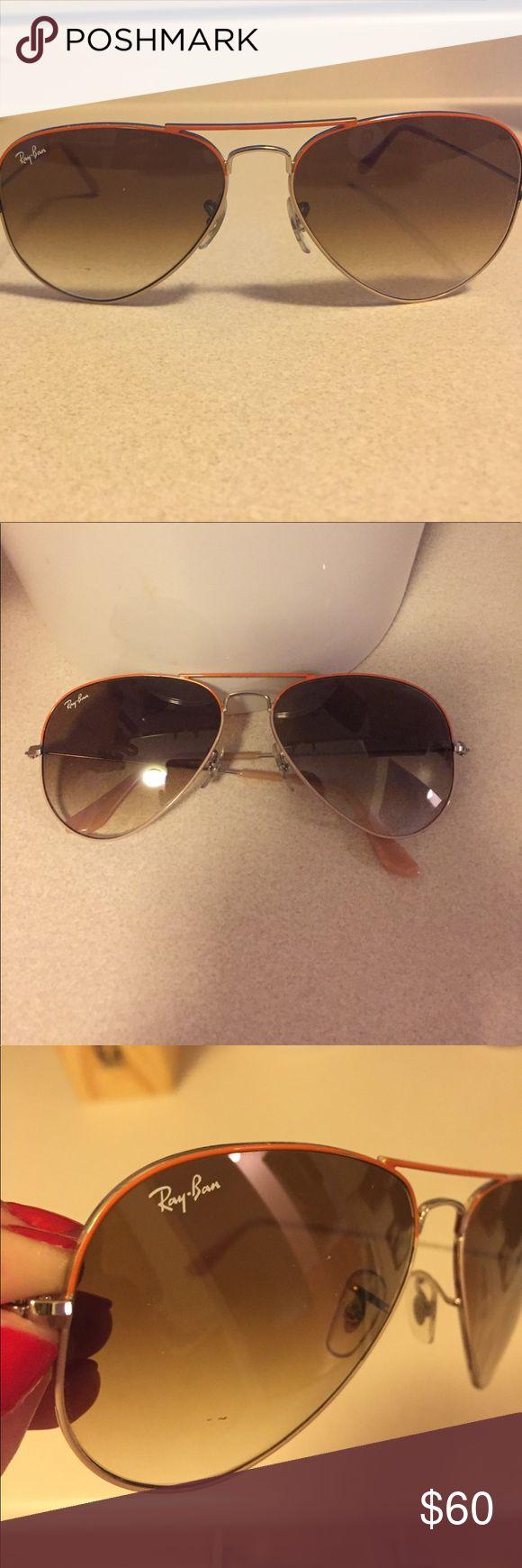 Ray-Ban Aviator sunglasses with orange trim Ray-Ban Aviator sunglasses with orange trim Ray-Ban Accessories Sunglasses