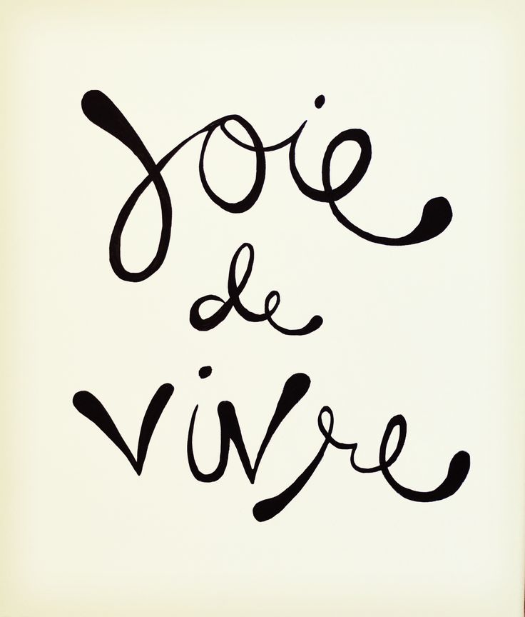 Joie de Vivre Happiness / bliss from outside oneself. Derived from things, nature, others.