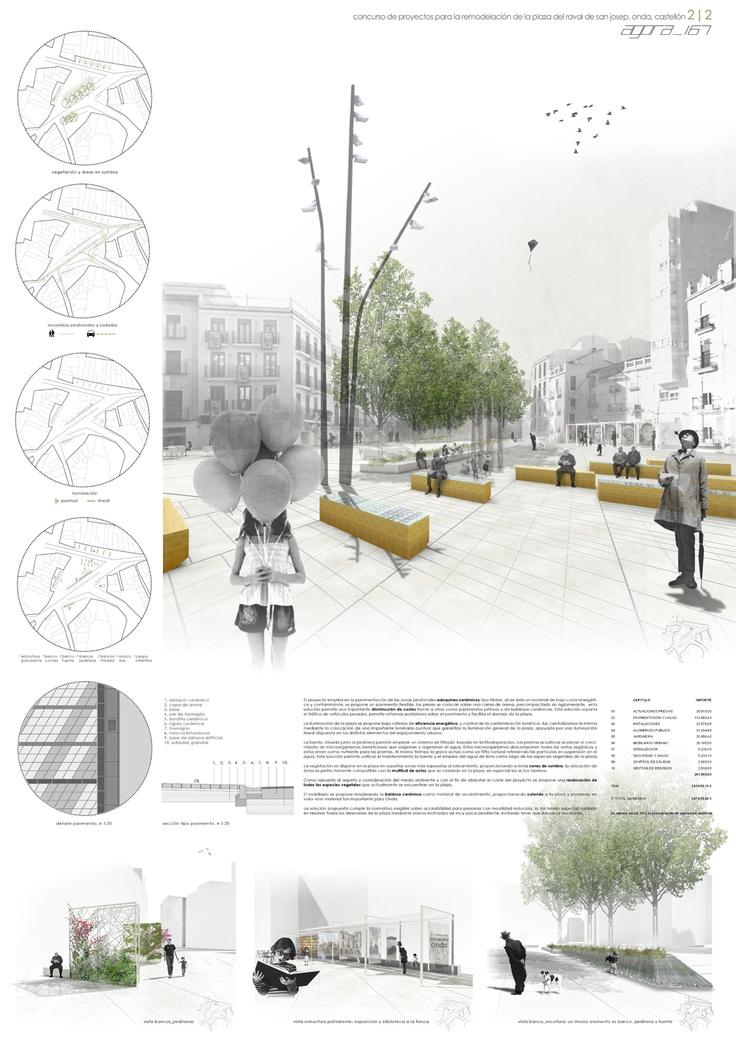 'ágora_167′ Concurso Remodelación Plaza del Raval de San Josep, Onda, Castellón.   accésit concursos de arquitectura