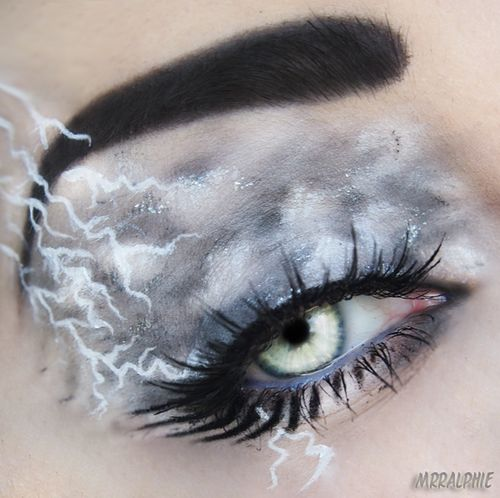 Eye Of The Cloudy Dark Lightning Storm Eye Makeup