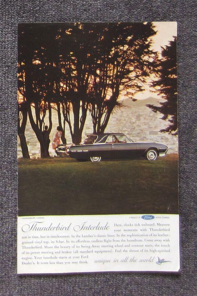 FORD THUNDERBIRD 1962 Auto Car Magazine Page Sales Ad Advertisement Brochure #FORDTHUNDERBIRD #CarAutomotiveAdvertisement