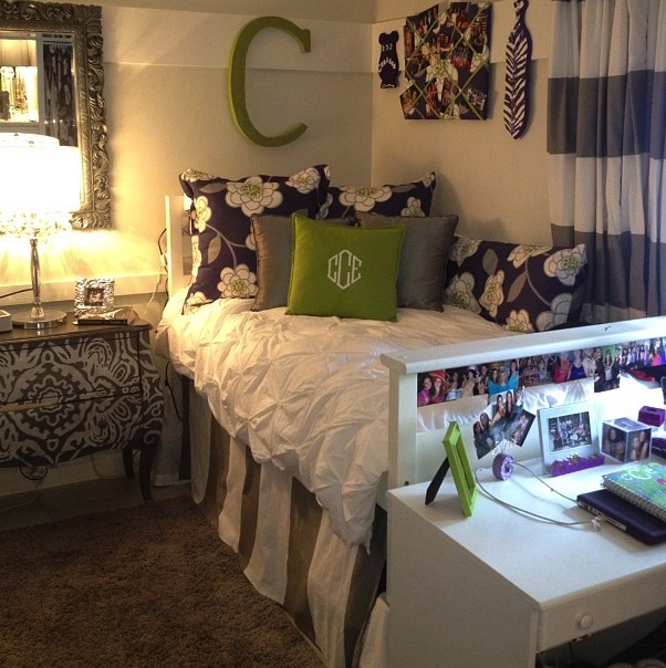 pretty lavender and chartreuse color palate