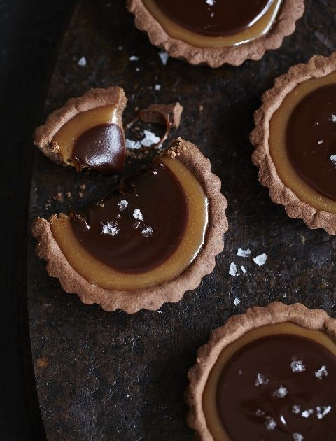 Salted Chocolate Caramel Tarts / Sweet Paul oh yummy #OH.... I love ...
