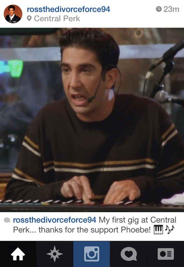 "If Ross Geller From ""Friends"" Had Instagram"