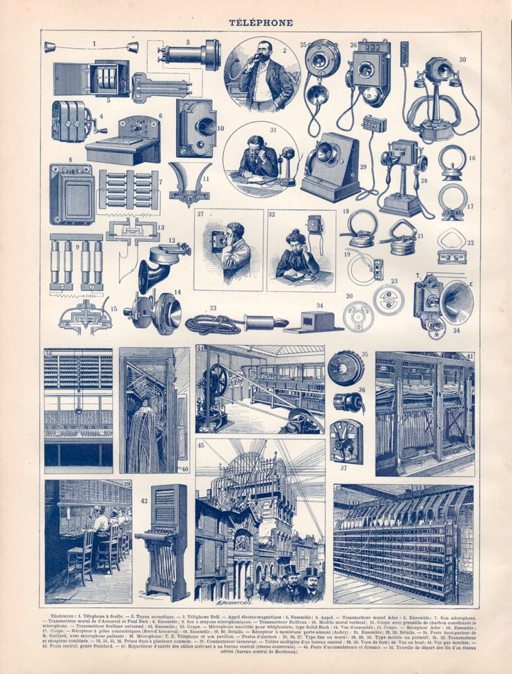 1897 Telegraph Communication Antique Print Vintage by Craftissimo