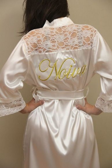 f529ef201684b1 Robe com renda | home wear | Roupao noiva, Robe e Robes personalizados