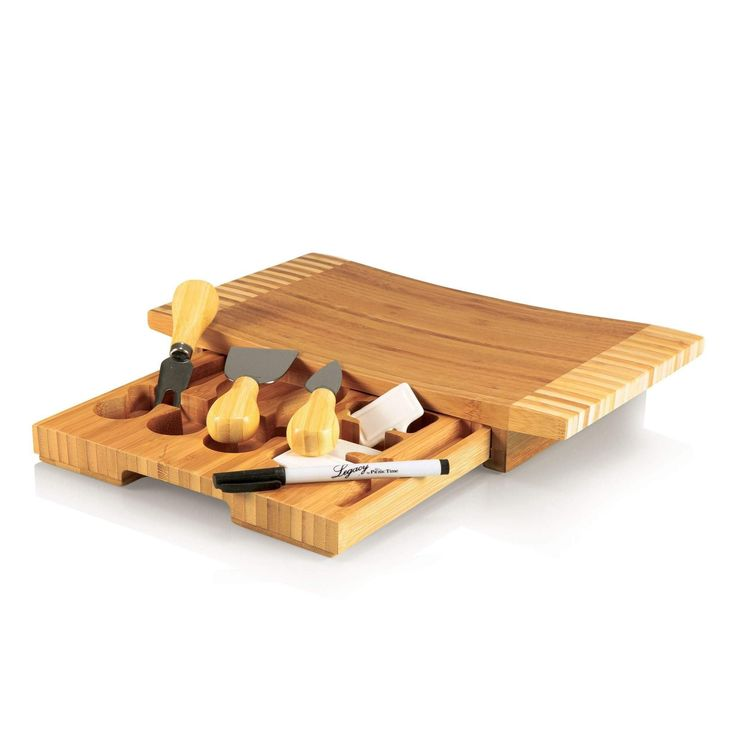 Picnic Time Concavo Cheese Board-823-00-505-000-0  #bestknives #kitchentools #smallappliances #spherificator #kitchenknives #bellini
