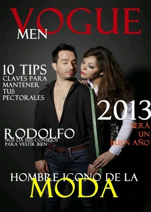 Nuestra portada de la revista ya terminada. Agradecimientos especiales a nuestro modelo Rodolfo y a nuestra Ejecutiva de cuentas Pastora, por ayudarnos en este inmenso trabajo.