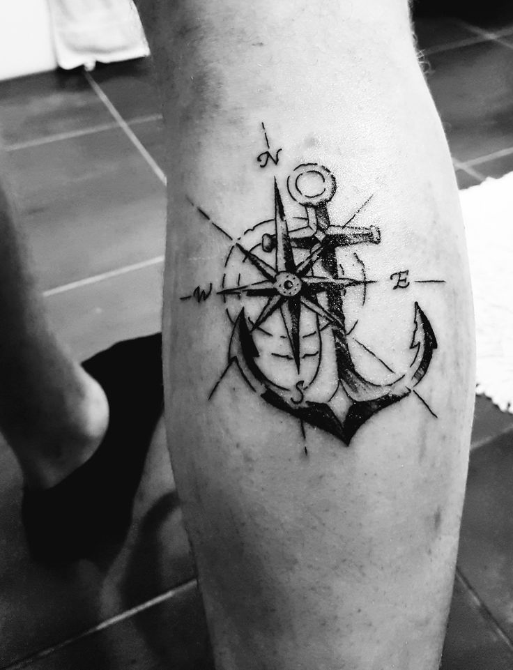 The 25+ best Anchor compass tattoo ideas on Pinterest ...