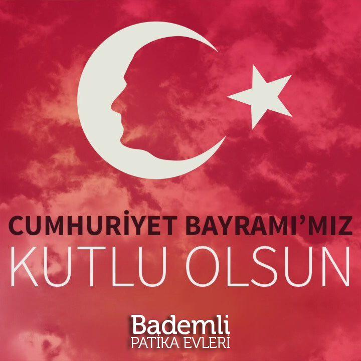 29 Ekim Cumhuriyet Bayramı'mız Kutlu Olsun - www.bademlipatikaevleri.com #bayram #cumhuriyet #ekim #bademli #bursa #villa