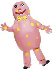 Adult 90s TV Licensed Inflatable Mr Blobby Mens Fancy Dress Costume Party Outfit