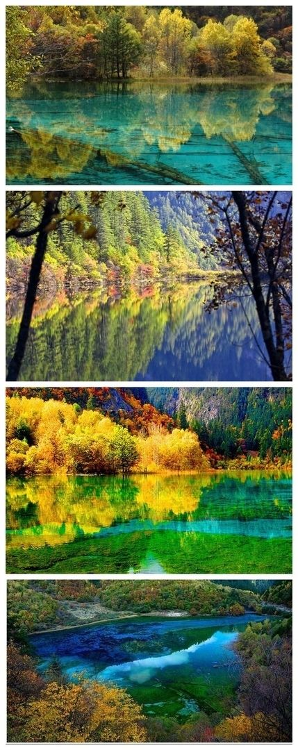 Jiuzhaigou in Sichuan, China. It is too beautiful to make you out of breathe.