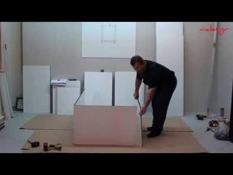 """Σύγχρονη ΣΥΡΌΜΕΝΗ ΝΤΟΥΛΆΠΑ N12 Κατασκευή συρταριέρας """"δ"""" - YouTube"""