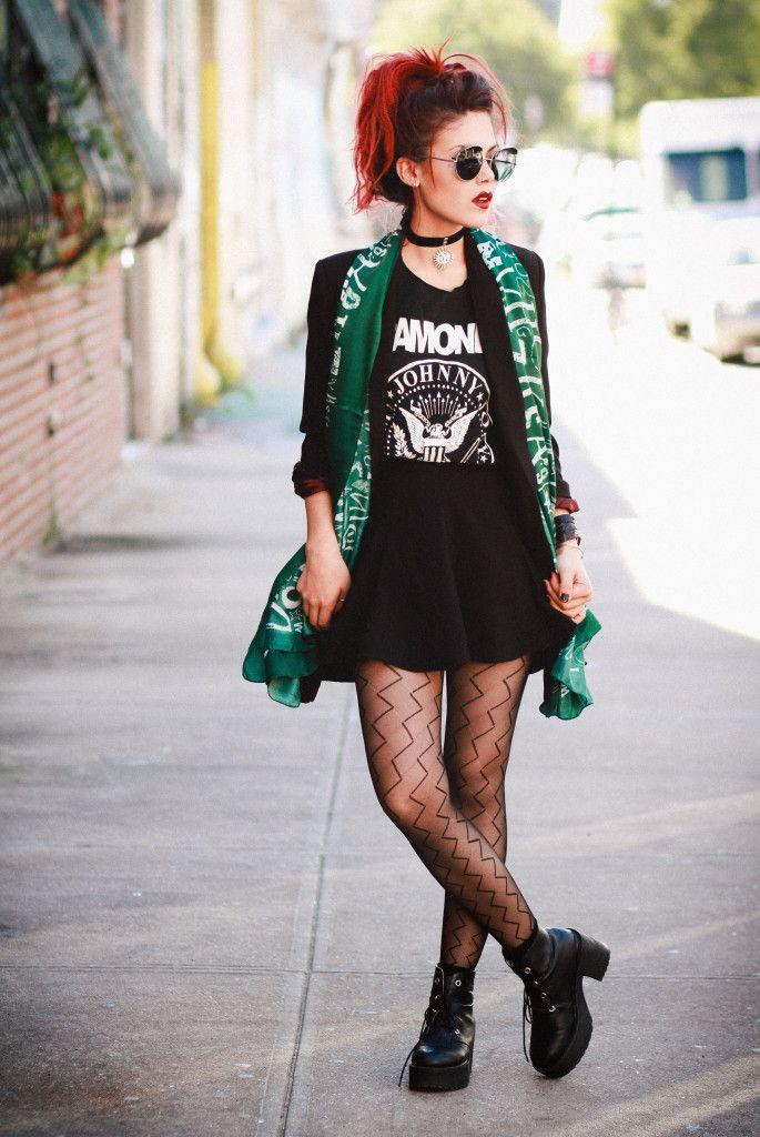 LeHappy   Ramones t-shirt   skirt