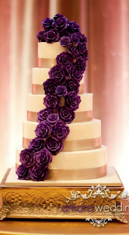 Cakes Desserts Purple Wedding