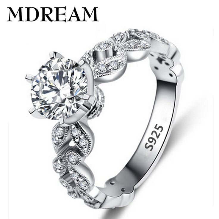 many leaf style s925 silver ⊱ Ring with Platinum ( ^ ^)っ plated zirconia romantic women rings jewelry for Engagement wholesale LSR097many leaf style s925 silver Ring with Platinum plated zirconia romantic women rings jewelry for Engagement wholesale LSR097