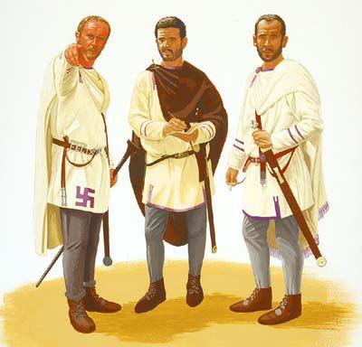 Римские солдаты в повседневной форме одежды. III в. н.э.