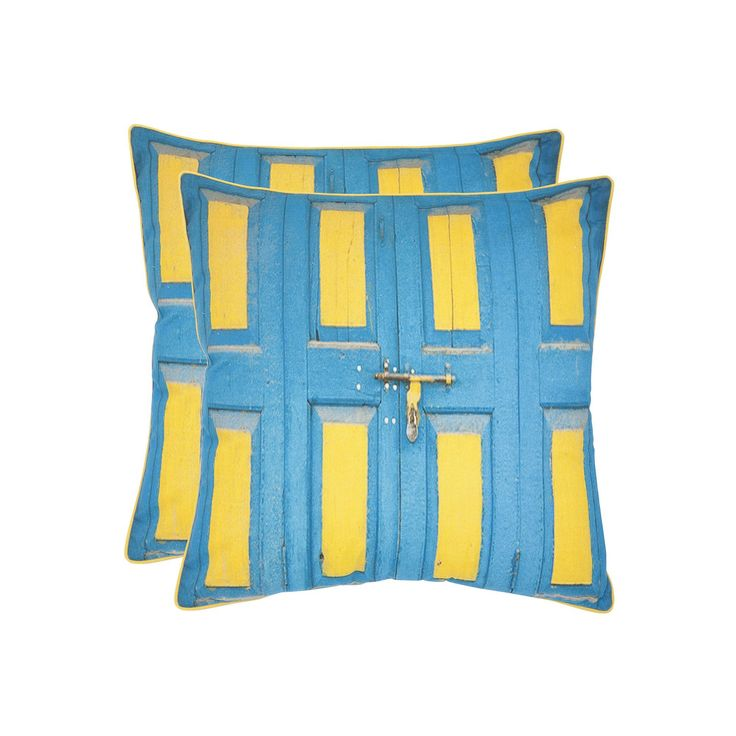 Nador 2-piece 18'' x 18'' Throw Pillow Set, Turquoise/Blue (Turq/Aqua)