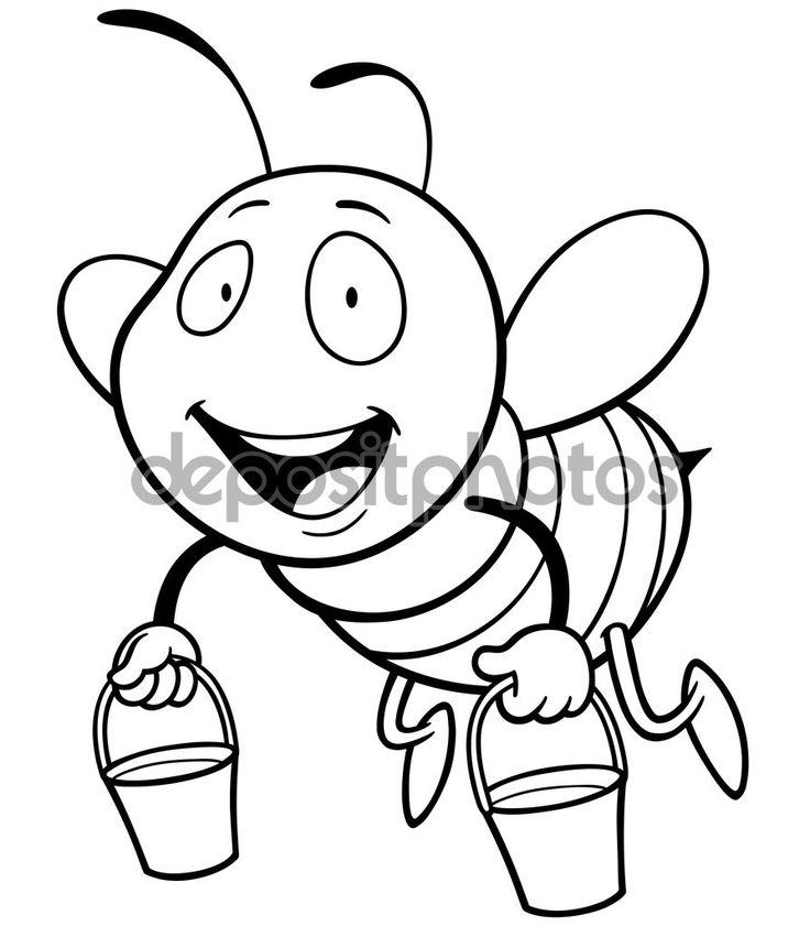 Kreslený včela — Stocková ilustrace #78908214
