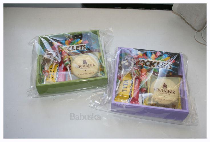 Bandeja individual. Ideales para cumpleaños o souvenirs. www.babuskaconamor.blogspot.com.ar