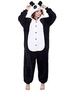 Moollyfox Adulte Unisexe Anime Animal Costume Cosplay Combinaison Pyjama Outfit Nuit Vêtements Onesie Fleece Halloween Costume Soirée de…